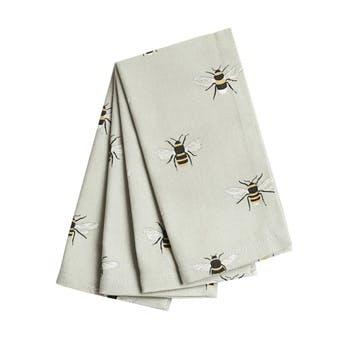 'Bees' Napkins, Set of 4