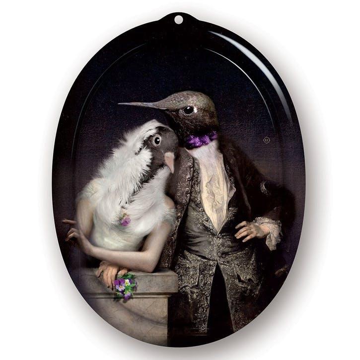 Galerie De Portraits Oval Tray, Love Birds