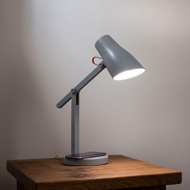 Pixi Wireless Charging Desk Light, Grey