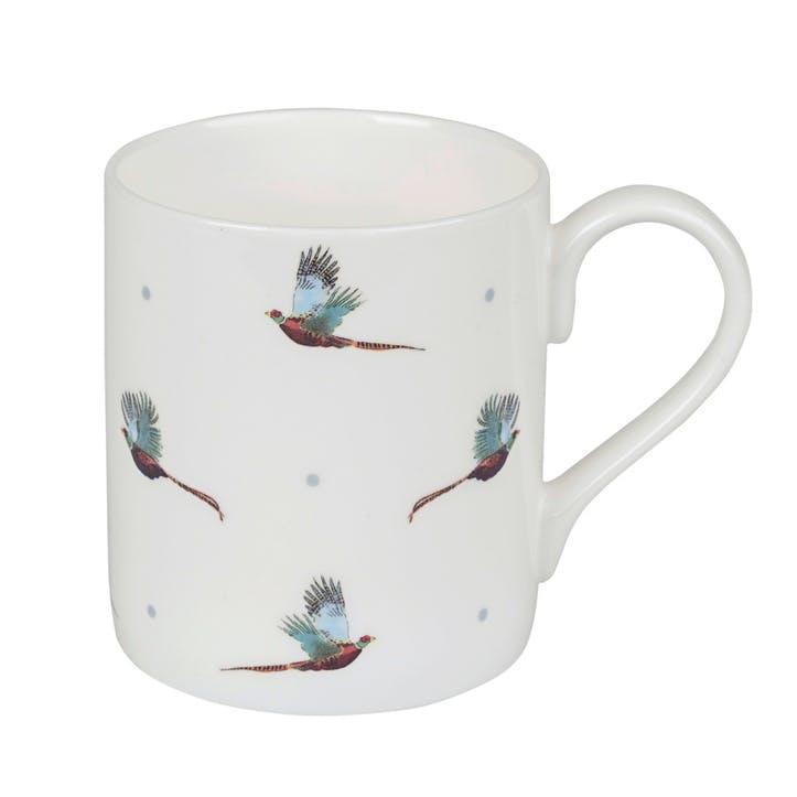 'Pheasant' Flying Mug - Large; White