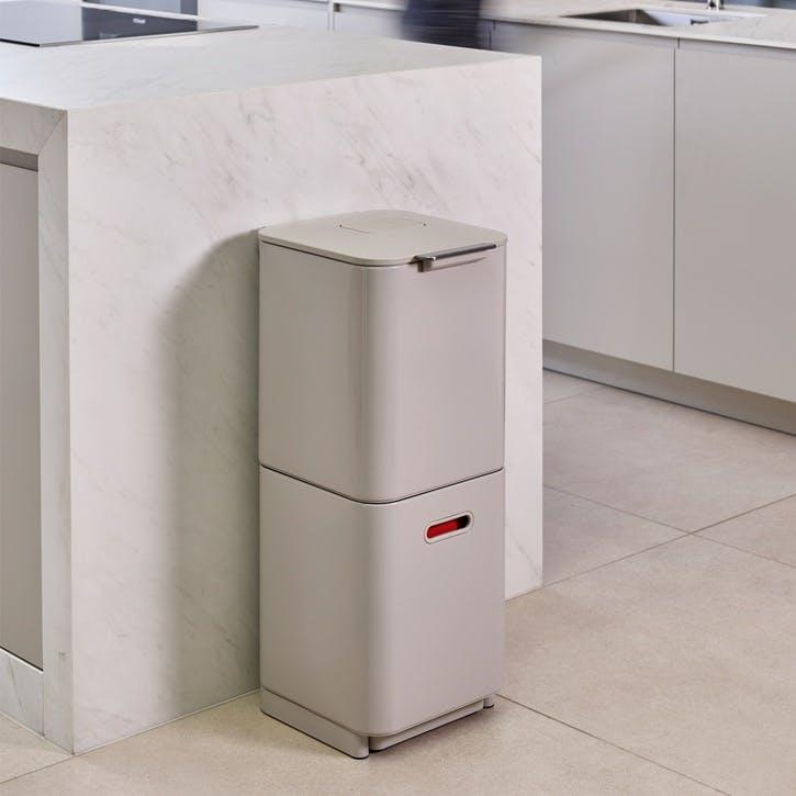 Totem Compact 40 Recycling Bin, Stone