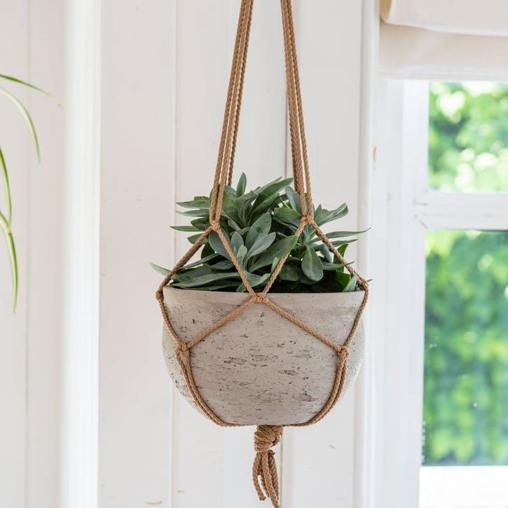 Stratton Hanging Pot, Stone
