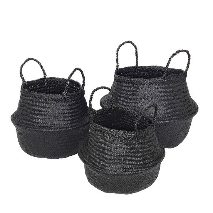 Set of 3 Ilse Fold Baskets Sea Grass