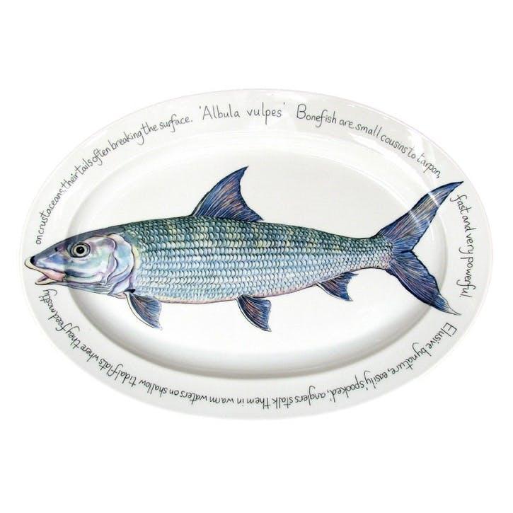 Bonefish Oval Plate - 39cm