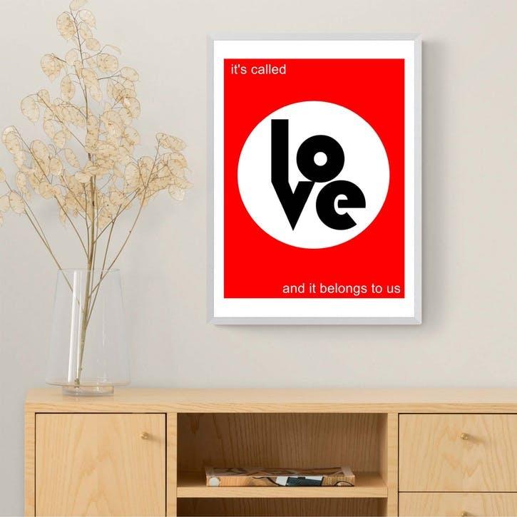 Indie Prints, Thieves Like Us, Framed Art Print, H61 x W44 x D2cm, White