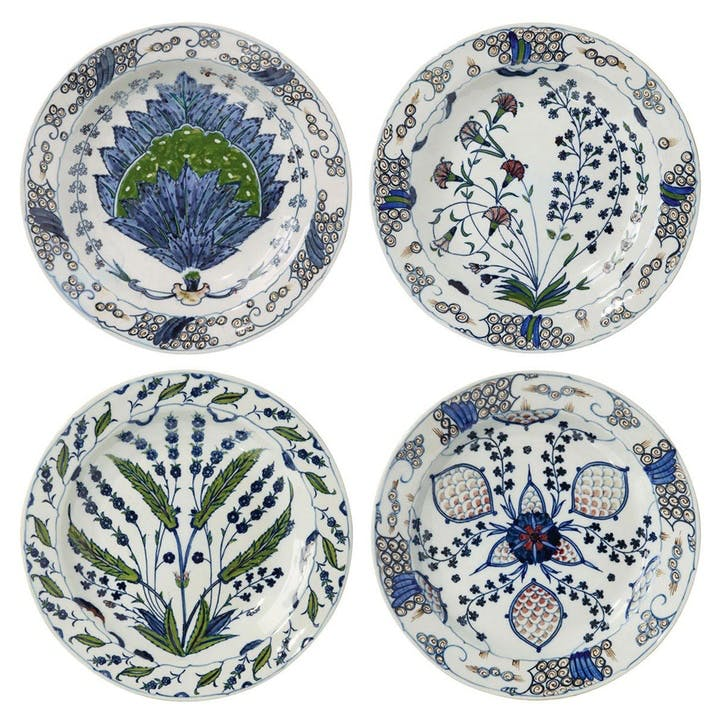 Isphahan Porcelain Charger Plates, Set of 4