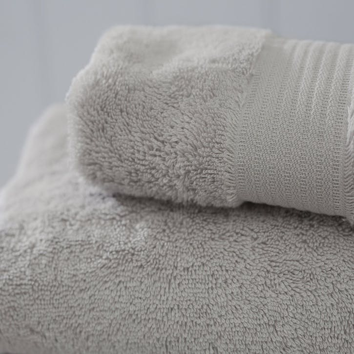 Egyptian Cotton Towel, Face Cloth, Pearl Grey