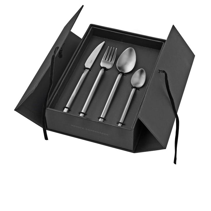 Jewel Burnished Silver Cutlery Set, 16 Pieces