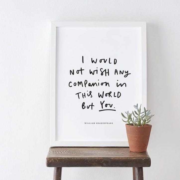'Shakespeare Companion' Print, A3