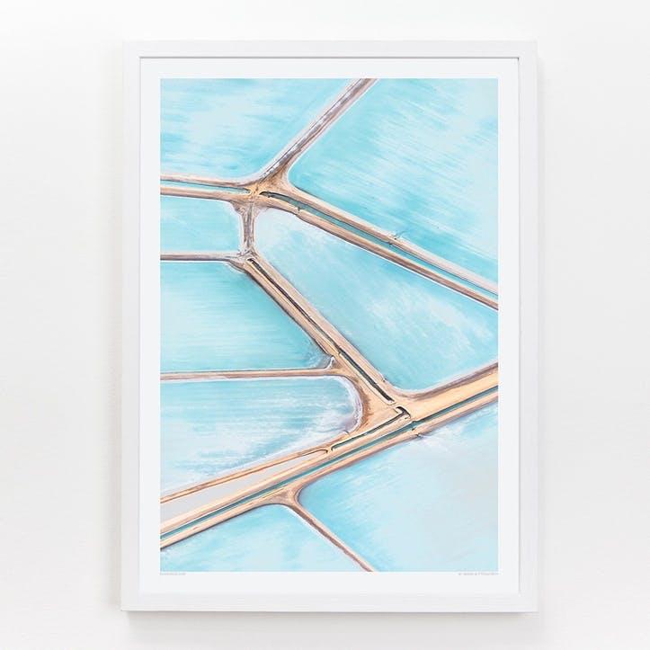 Blue Fields 2 Print, 42cm x 59.4cm