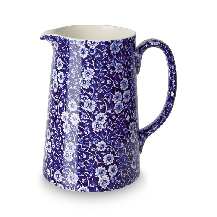 Calico Tankard Jug, Large, Blue
