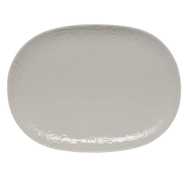 Gather Large Platter, Grey
