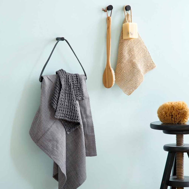 Towel Hanger, Black Oak