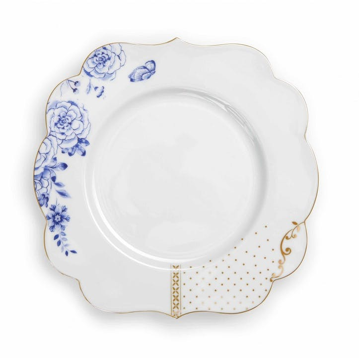 PiP Royal White Breakfast Plate