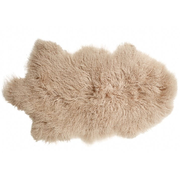 Tibetan Sheepskin Rug, Blush