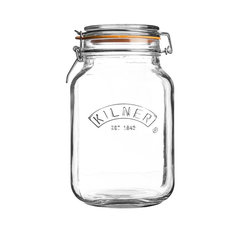 Square Cliptop Jar - 2 Litre