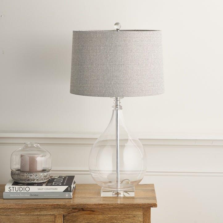 Glass Teardrop Table Lamp