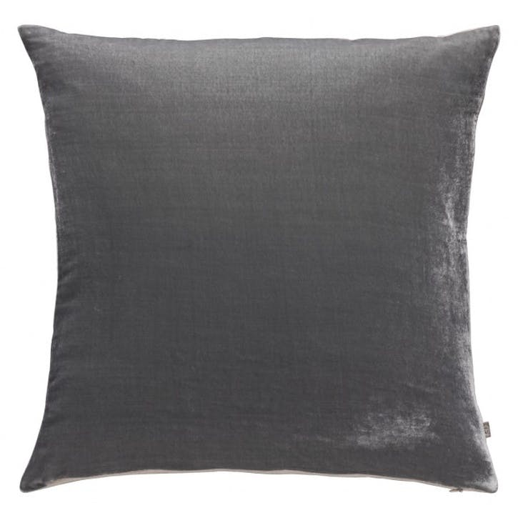 Regency Velvet Cushion, Grey