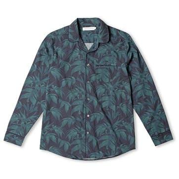 Byron Collared Pyjama Shirt, Medium