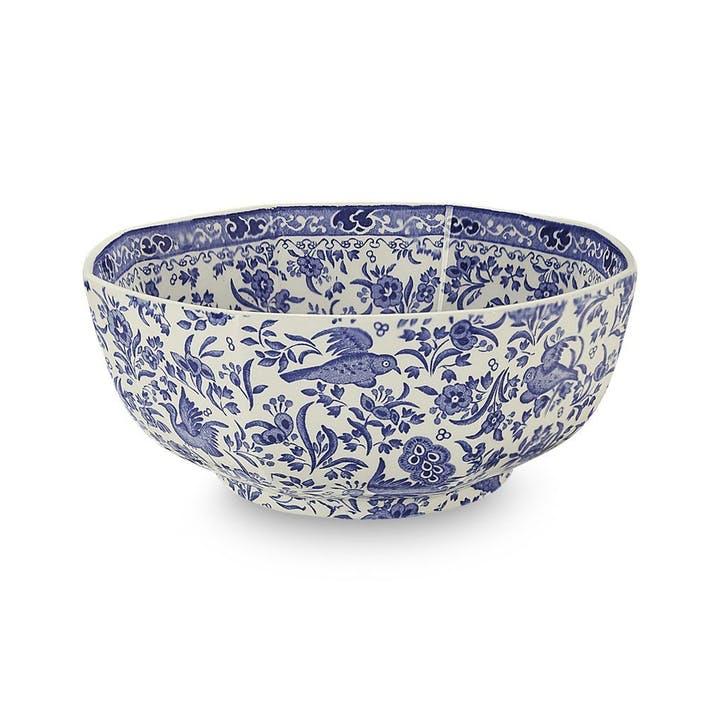 Regal Peacock Octagonal Bowl, 20.5cm, Blue