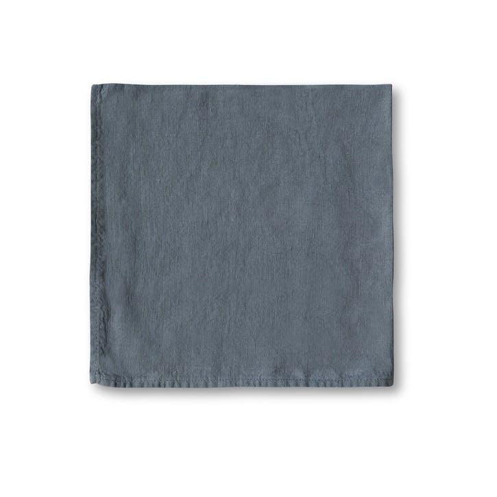 Simple Hem Napkin, Parisian Blue