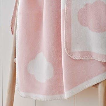 Pink Cloud Baby Blanket, W100 x L75cm, Pink
