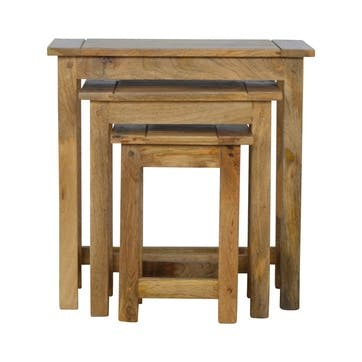 Cotswold Indented Nesting Tables, Set of 3, Natural