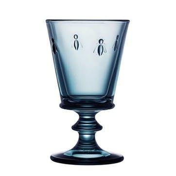 Bee, Wine Glasses, Set of 6, 240ml, Blue