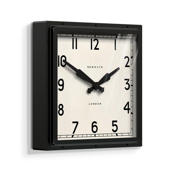 Quad Wall Clock, Dia. 40cm, Black