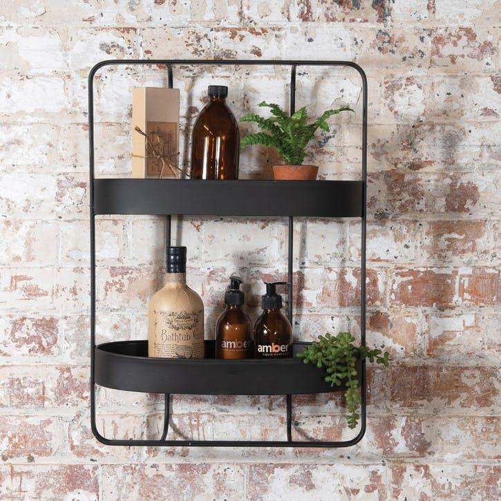 Industrial Oval Double Shelf Unit