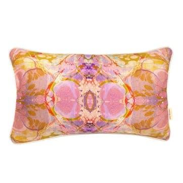 Lavender Tapestry Kaleidoscope, Rectangular Linen Cushion