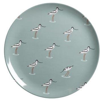 'Coastal Birds' Melamine Dinner Plate