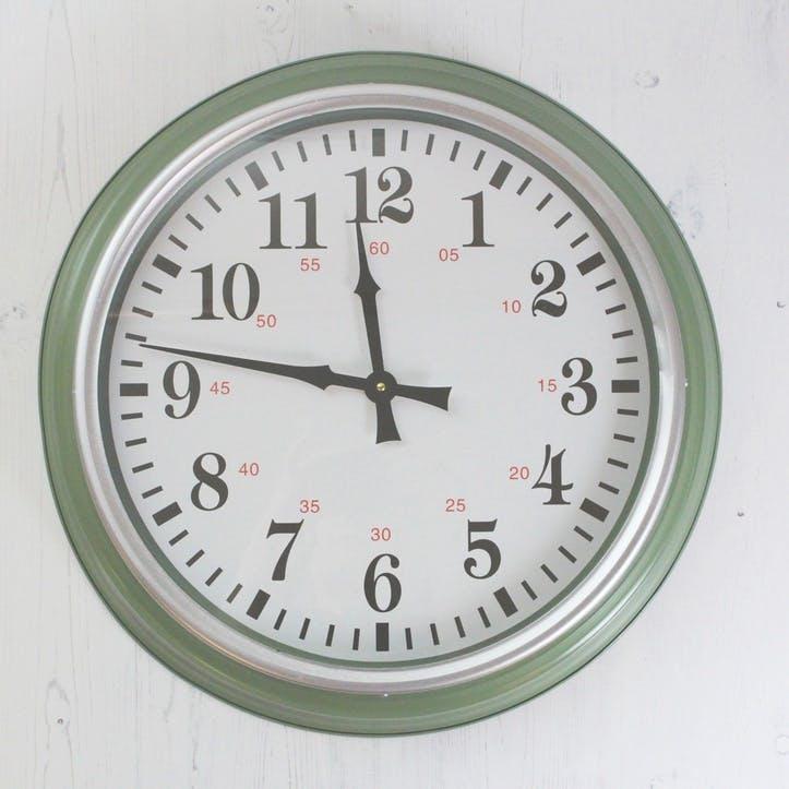 Soft Green Wall Clock