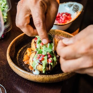 Six Course Contemporary Indian Tasting Menu with Wine Flight for Two at Michelin Recommended Asha's, Manchester