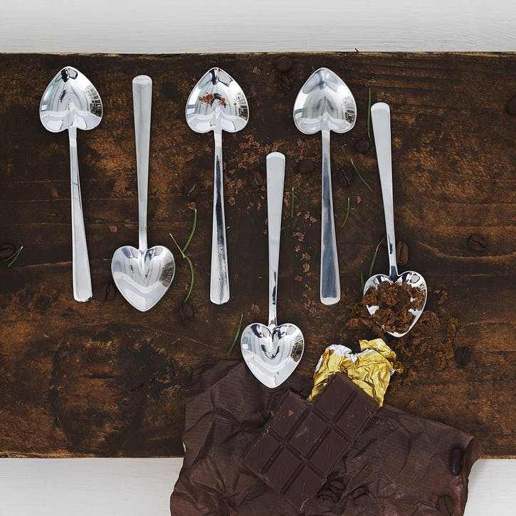Heart Shaped Spoon, Set of 6