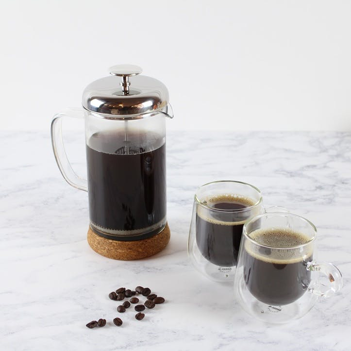 8 Cup Glass Cafetiere, 1L