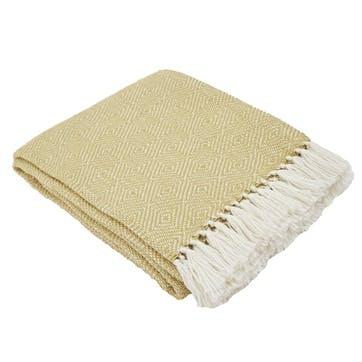 Diamond Blanket, 2.3 x 1.3m, Gooseberry