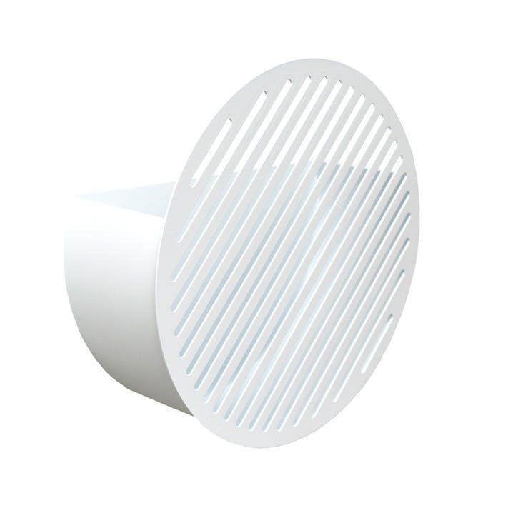 Diagonal, Large Wall Basket, White