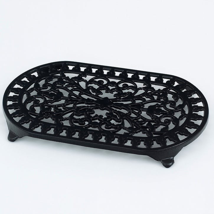 Cast Iron Trivet, Black