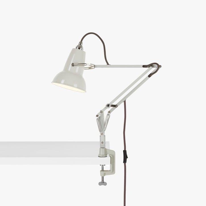 Original 1227 Mini Lamp with Desk Clamp, Linen White