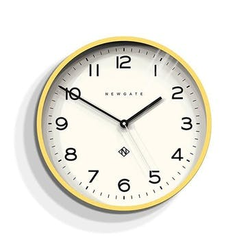 Echo - Number 3, Wall Clock, W37cm x D5cm x H37cm, Yellow