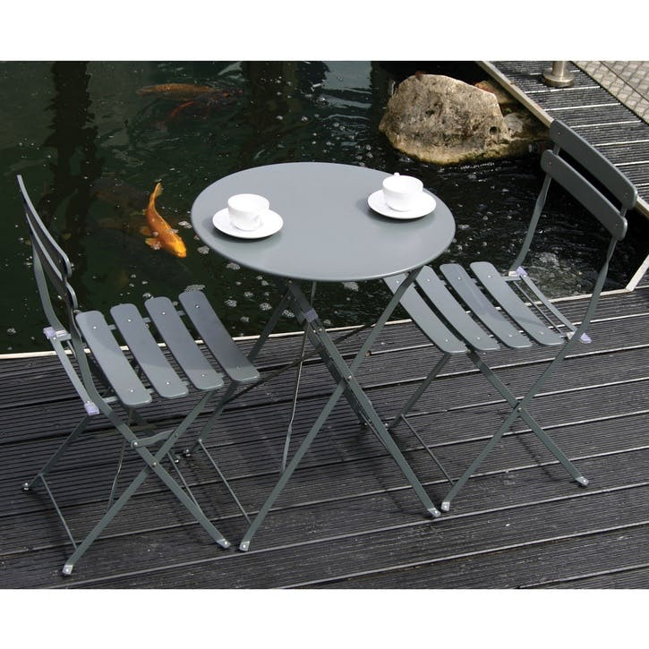 Loire Bistro Set; Matt Grey