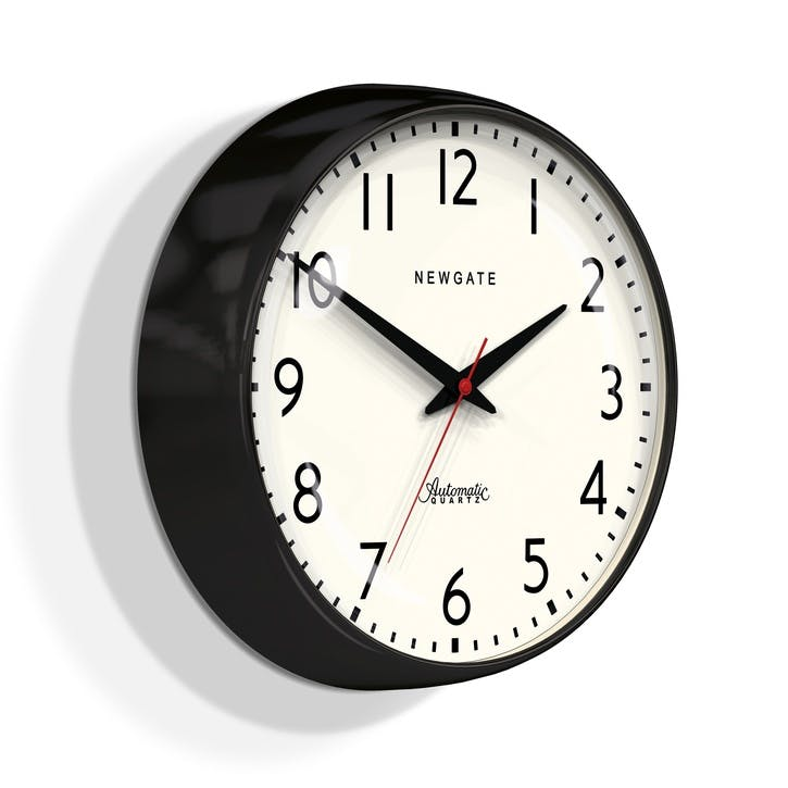 The Watford Wall Clock, Dia. 40cm, Black