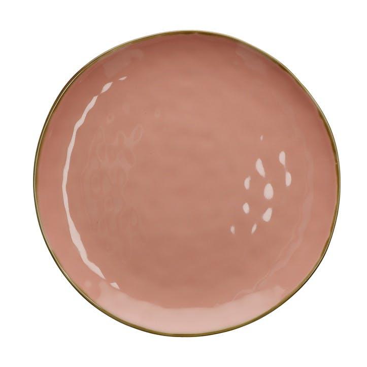 Concerto Round Serving Platter, Pink