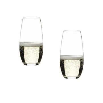 """O"" Champagne Glass, Set of 2"