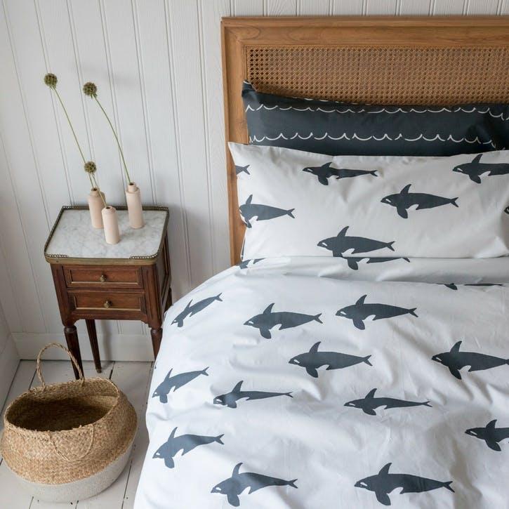 Orca Reversible Duvet Set, Super King