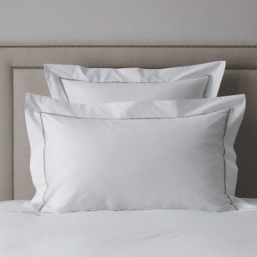 Savoy Oxford Pillowcase, Standard, Silver