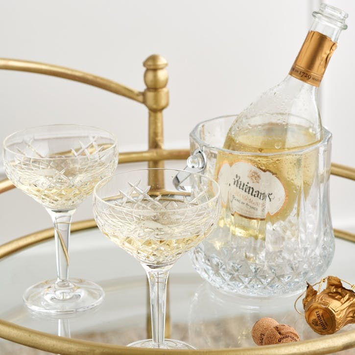 Barwell Champagne Coupe and Ruinart Set