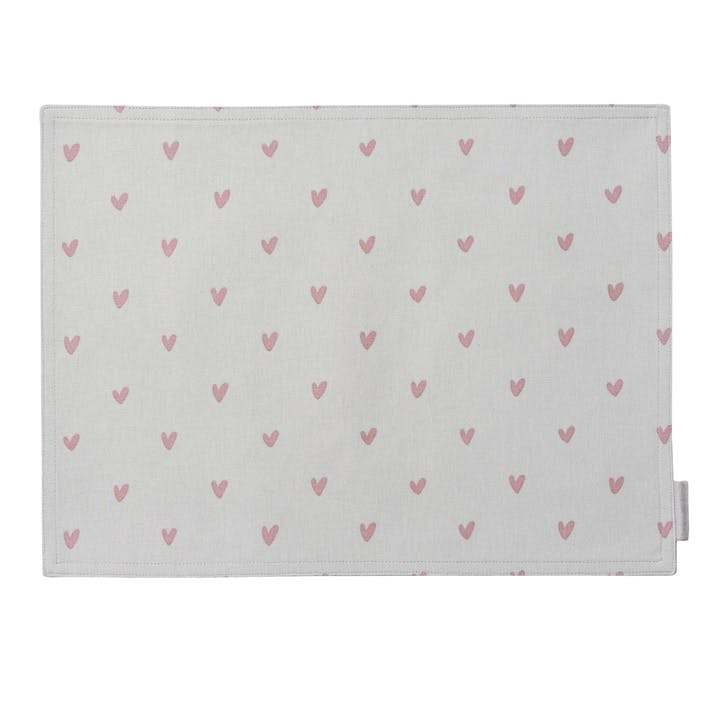 'Hearts' Fabric Placemat