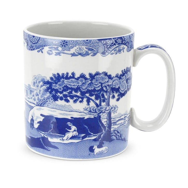Blue Italian Mugs, Set of 4 - Small